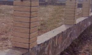 Клинкерная фасадная плитка в качестве отделки для забора