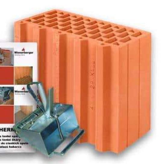 Керамический блок Porotherm 30 1/2 Profi