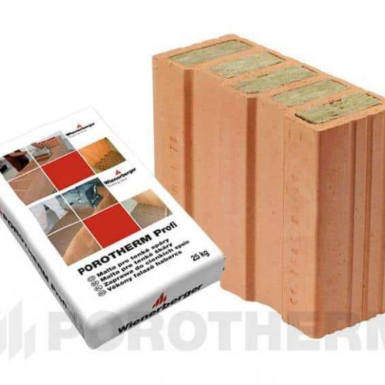 Керамический блок Porotherm 30 1/2 T Profi