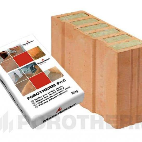 Керамічний блок Porotherm 38 1/2 T Profi