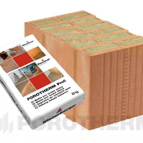 Керамический блок Porotherm 38 T Profi