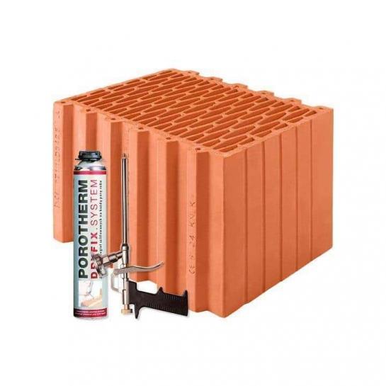 Керамический блок Porotherm 38 Dryfix
