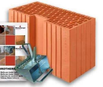 Керамический блок Porotherm 44 R Profi