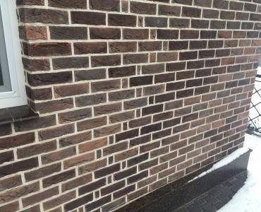 Фасадная плитка Loft Brick Саппоро Красно-коричневый с подпалами 210x65 мм