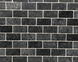 Мрамор Black Marble Tumbled Dark 1*7.5*15 см