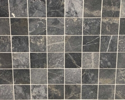 Мрамор Black Marble Sanblasted&Brushed Face 1*10*10 см