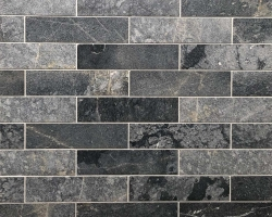 Мрамор Black Marble Sanblasted&Brushed Face  1*7.5*30 см