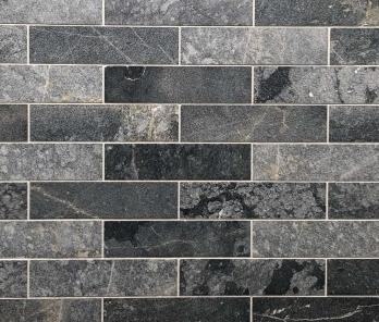 Мрамур Black Marble Sanblasted&Brushed Face  1*7.5*30 см