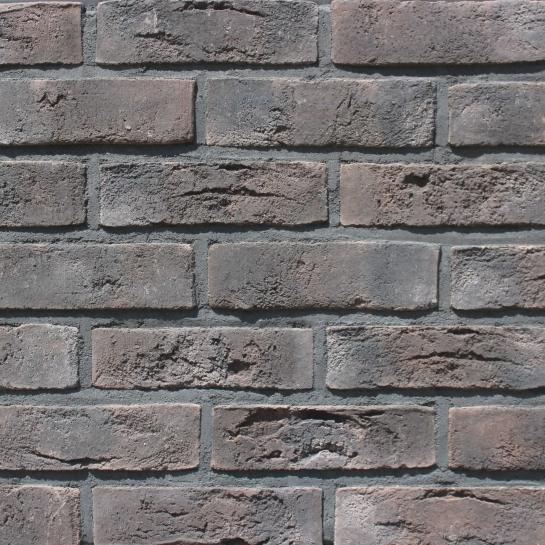 Фасадная плитка Loft Brick Бельгийский 04 Коричневый с подпалом 240x71 мм