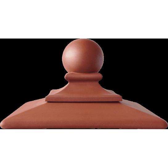 Шляпа керамическая ROYAL Kingklinker Ruby-red (445x445x250)