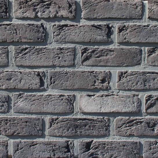 Фасадна плитка Loft Brick Манхетен 20 Чорний з сіллю 210x65 мм