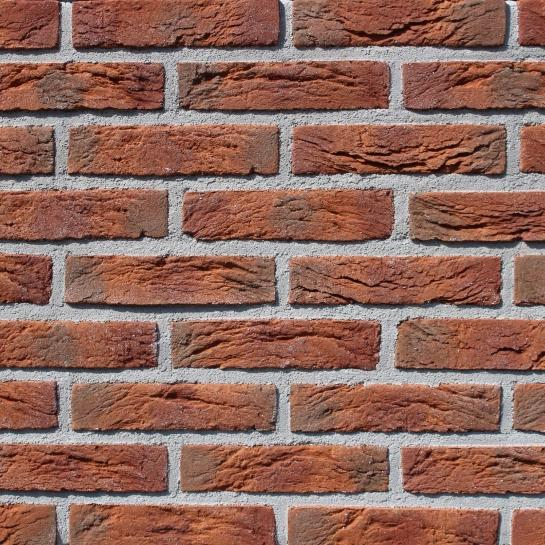 Фасадная плитка Loft Brick Старая Прага 03 Красный 209x49 мм
