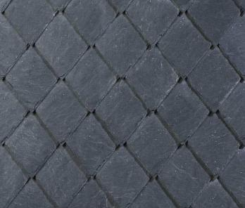 Декоративная кладка остроугольными плитками