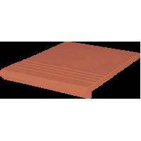 Ступень венецианская гл./риф. Kingklinker Ruby-red (330x245x14)
